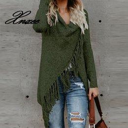 Wholesale fringe cardigan resale online - Xnxee Women Knitted Winter Warm Sweater Cardigans Long Sleeve Tassel Fringe Shawl Poncho Cardigan Jackets Coats Oversized Y200909