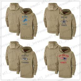 Mens Women KidS DallasCowboysTan Vintage Sweatshirt 2019 Salute to Service SidelineNFLTherma Pullover Hoodie on Sale