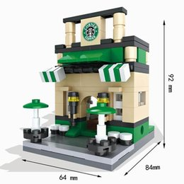 building blocks toy store Australia - Hsanhe Building Popular Retail Restaurant Toy Architecture Children Model Street Mini For 3d Scene Store Miniature Block wGppc ly_bags