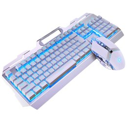 backlight keyboard mechanical 2021 - Computer Game Mechanical PC Office Work Durable USB Wired Portable LED Backlight Gaming Keyboard Mouse Set Desktop Unive