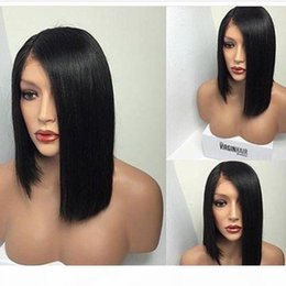 styles for african american hair Australia - African American Human Hair Wigs Bob Style Full Lace Front Wigs Virgin Brazilian Hair Glueless Short Bob Human Hair Wig For Black Women