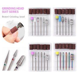 tungsten drill bits Canada - Tungsten Diamond Nail Drill Bit with Sanding Bands Burr Electric Milling Cutters Files For Pedicure Manicure Accessories