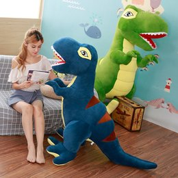 cute dinosaur cartoons Australia - 45-160cm Cartoon Dinosaur Plush Toy Tyrannosaurus Doll Cute Stuffed Animals Kids Children Birthday Gifts 200924