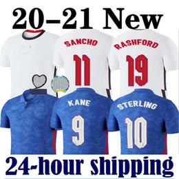 Wholesale quality shirts cotton men online – design Thailand quality new soccer jersey england KANE STERLING RASHFORD national teams football shirts men kids kit sets uniform