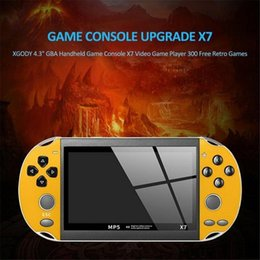 video game console display UK - Games Retro Player Game Dhl Lcd Children Handheld Mq12 Console 4.3 X7 Video Inch Player For Gba Free Display For Game yxlKB xjfshop