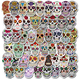 Wholesale Halloween 50PCS Vinyl Stickers Bomb Horror Doodle Car Decals Waterproof for DIY Laptop Skateboard Bicycle Motorbike Decoration Gifts