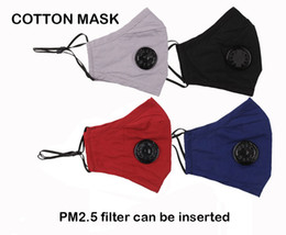filter dust mask Canada - Outdoor dust and sun anti haze activated carbon PM2.5 cotton cycling mask dust filter with breathing valve stereo protective cotton mask