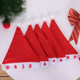 Wholesale LED light flash Red Santa Claus Hat Ultra Soft Plush Christmas Cosplay Hats Christmas Decoration Adults Party Hats