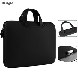 apple macbook air pouch UK - 13 Sleeve 15 Macbook 11 Besegad 15.4 For 12 Air Apple 13.3 Cover Briefcase Laptop Handbag Book Mac Pro Bag Pouch Case umLaS bde_home