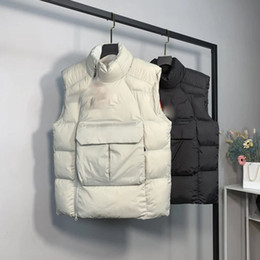 Wholesale vests for men resale online - Mens Designer Jacket Vest White Duck Down Coat Windbreaker For Men Women Warm Coat Vest Zippers Jacket Thick