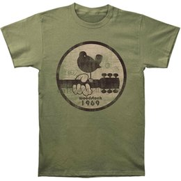 Woodstock Мужская Вудсток 1969 Slim Fit T-Shirt Military