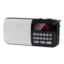 battery powered mp3 player 2020 - MP3 Player Entertainment Battery Powered Digital Display For Elderly Stereo TF Card Slot Mini FM Radio Portable Speaker