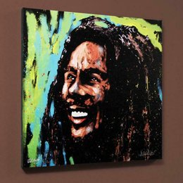 "bob marley home decor Canada - David Garibaldi ""Bob Marley (1)"" Home Decoration Handcrafts  HD Print Oil Painting On Canvas Wall Art Canvas Pictures Wall Decor 200928"