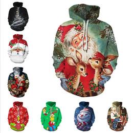 Wholesale christmas jackets men resale online – Designers Santa Claus Christmas Snowflake Casual Couple Wear Hooded Sweater Autumn Winter Long Sleeve Pullover Jacket for Men Women D9301