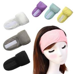 Toptan satış Banyo Duş Kadın Bantlar Kozmetik Saç Bantları Yıkama Yüz Banyo Makyaj Bandı Moda Kafa Türban Spa Salon Aksesuarları 8 Renkler AHC2126