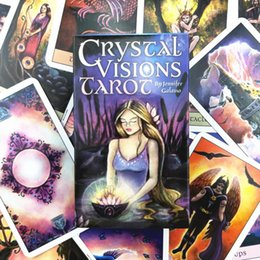 vision designer 2020 - Quality Game Tarot Cards Luscious Good Family Holiday Cards Gift Party Table Card Crystal 78pcs Playing Vision Board Who