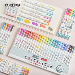 Опт 15 / 25шт / Set Японских Канцелярских Zebra Mildliner флуоресцентного маркер двуглавый Highlighter Ручка для школы принадлежности для рисования