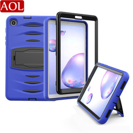 military tablet case NZ - Kids Safe Shockproof 3 Layers Heavy Case For Samsung Galaxy Tab A 8.4 2020 T307 With Pencil Holder Military Stand Tablet Cover