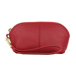 leather wash bag women Australia - Female Shell Cosmetic Bag leather Travel Cosmetic Case Makeup Pouch Mini Purse travel wash bag women cosmecic pouch beauty case