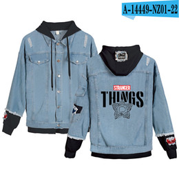 Wholesale stranger things hoodie for sale - Group buy Preferential High Quality Hoodies Denim jacket Men Women sweatshirt Stranger things Boy Girl Pullovers