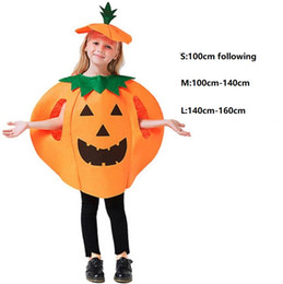 adult baby halloween costumes 2021 - 2020 Cute Children Baby Adult Halloween Cosplay Clothes Fancy Ball Style Performance Costume Sleeveless Kids Baby Pumpkin Suit Dress
