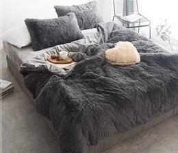 Coral Fleece Простыня Winter сгущает из четырех чехлов комплект постельных принадлежностей конструктора Кровать Одеяла Комплекты фланели Coral руно Кровать Наборы DHA1205 на Распродаже