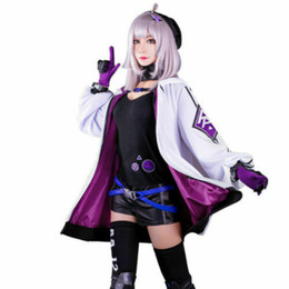 Wholesale cool female costumes for sale – dress Girls Frontline Dress Cool Suit AA12 Costume aa12 white coat Cosplay Costumes
