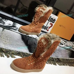 laser height Australia - Hot sale autumn and winter warm hare fur short boots laser magic color shoes fashion winter boots high tube women's boots size 35-43