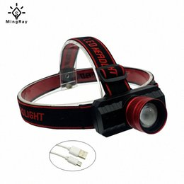 adjustable headlamp NZ - MingRay USB Rechargeable 18650 Headlamp Zoom 5w Cree Q5 LED Head Lamp Adjustable Band Headlight wlaL#