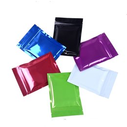 food grade plastic packaging bags UK - 9*13cm (3.54*5.11inch) colorful zipper sealing package mylar plastic bags food grade packing mylar pouches gift sample pack bags 200pcs