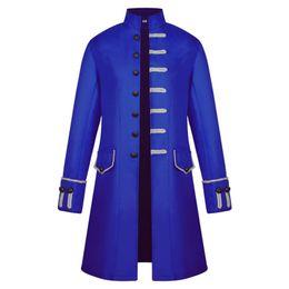 Wholesale green frock coat for sale – winter Unisex Medieval Steampunk Coat Men Vintage Stand Collar Jacket Formal Halloween Costume Uniform Gothic Victorian Frock Coat Male