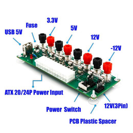 atx connector 2020 - Electric Circuit 24Pins ATX Benchtop Computer Power Supply 24 pin atx Breakout board module DC plug connector with USB 5