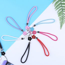 flower lanyards Australia - Keychain Lanyard Mobile Phone Strap Smart Phone Key Holder Ring Flower Lanyard Accessory Cord Phone Hand Rope Keychain 2020