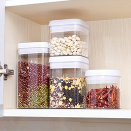 sealed jars Australia - Transparent Sealing Storage Container Kitchen Preservation Jars Kitchen Grain Sugar Nuts Storage Bin With Buckle