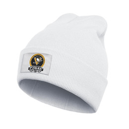 pink blue penguin cartoon 2020 - Pittsburgh Penguins Jack McGregor men and women beanie knitted oversized cartoon print Knitted hat, fine knit 2018 Stanl