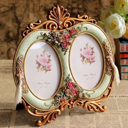 resin photo frame picture UK - Vintage Photo Frame Home Decor Resin Wedding Gift Desktop Wall Picture Frame Best Gift for Baby Handicraft Furnishing Articles AhIX#