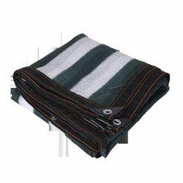 Stripe Anti UV PE Sunshade Net Outdoor Awning Garden Swimming Pool Shade Net Succulent Plant Cover Shelter Shading jrQA#