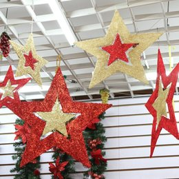 star layouts UK - rotation two-color five-pointed star New Year shopping mall large scene five-pointed star Rotating decoration layout window decoration y4qA