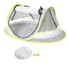 Wholesale Children Sunscreen UV Protection Tent Outdoor Portable Beach Folding Baby Mosquito Net Creative Baby Removeable Bed Customized VT1639