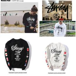 Wholesale velvet hoodie online – oversize HOT Brand sweater Stussy Men s Women s Classic Long Sleeve Hip hop Plus velvet Sweatshirt Hoodie Fashion Top Sweater Autumn Spring Clothing