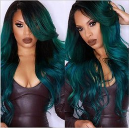 synthetic lace wigs free shipping UK - Free Shipping Fashion African women's big wave chemical fiber headgear Split big wave full lace Headcover