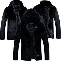Wholesale plus size mink fur coats for sale - Group buy Black Men s Mink Coat Loose Plus Size Long Sleeve Hooded Faux Fur Coats Winter Casual Men Outerwear Clothing