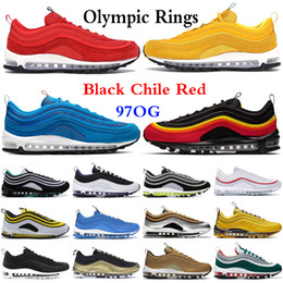 Wholesale olympics rings resale online - 2020 og Triple black White Silver Chile Red Magma Orange Men Running Shoes Olympic Rings South Beach Yellow Women Sports Sneakers