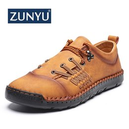 mens driving moccasins UK - ZUNYU New Leather Men Casual Shoes Mens Loafers Moccasins Breathable Driving Men's Shoes Plus Size 39-48