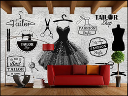 Wholesale sound clothing online – design Wall paper d custom photo mural Vintage brick wall clothing store image wall Home interior decor living room wallpaper for walls d