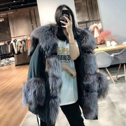 Discount army dog collars OFTBUY 2020 Winter Jacket Women Real Fur Coat Big Natural Fox Raccoon Fur Collar Parka White Duck Down Jacket Streetwear