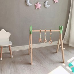baby land 2020 - Nordic Baby Gym Play Nursery Sensory Ring-pull Toy Wooden Frame Infant Room Toddler Clothes Rack Gift Kids Room Decor ch