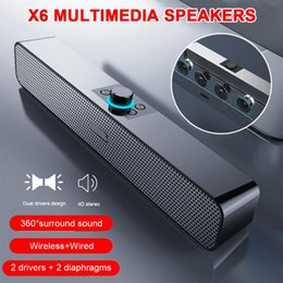 Discount small desktop computers Long bluetooth speaker knob desktop home theater computer game small speaker