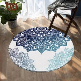 living room floor mats floral NZ - BeddingOutlet Mandala Living Room Carpet Floral Round Rugs for Bedroom Boho Play Floor Mat Bohemian Decorative Non-slip Area Rug