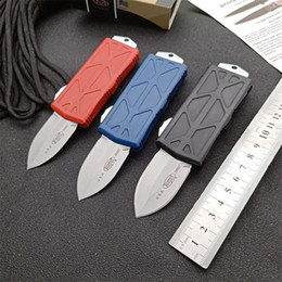 double action knifes UK - MICRO knives MT exocet PROOF RUN Flying Fish pocket knife double action Automatic knife 3 colors Handle tactical knives EDC tool